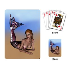 Mermaid On The Beach  Playing Cards Single Design