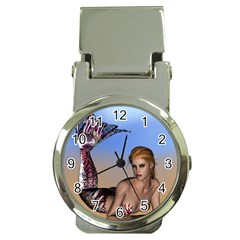 Mermaid On The Beach  Money Clip with Watch