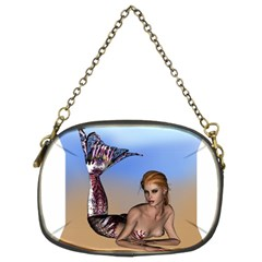 Mermaid On The Beach  Chain Purse (two Sided)
