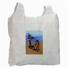 Mermaid On The Beach  Recycle Bag (One Side)
