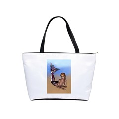 Mermaid On The Beach  Large Shoulder Bag