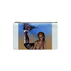 Mermaid On The Beach  Cosmetic Bag (small)