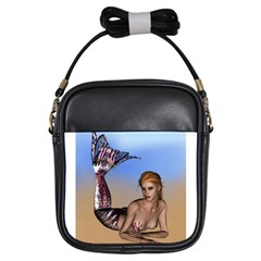 Mermaid On The Beach  Girl s Sling Bag