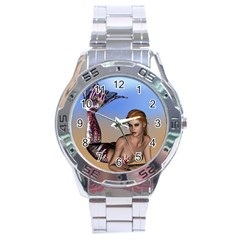 Mermaid On The Beach  Stainless Steel Watch