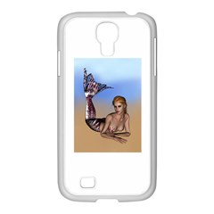 Mermaid On The Beach  Samsung GALAXY S4 I9500/ I9505 Case (White)