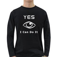 I Can Do It 2 Men s Long Sleeve T-shirt (Dark Colored)