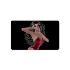 Miss Bunny In Red Lingerie Magnet (name Card)