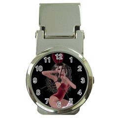 Miss Bunny In Red Lingerie Money Clip with Watch