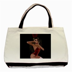 Miss Bunny In Red Lingerie Classic Tote Bag