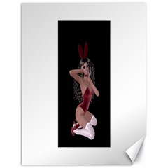 Miss Bunny In Red Lingerie Canvas 18  x 24  (Unframed)