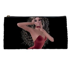 Miss Bunny In Red Lingerie Pencil Case