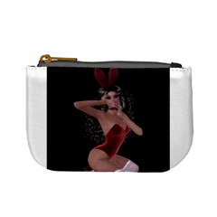 Miss Bunny In Red Lingerie Coin Change Purse