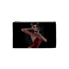Miss Bunny In Red Lingerie Cosmetic Bag (small)