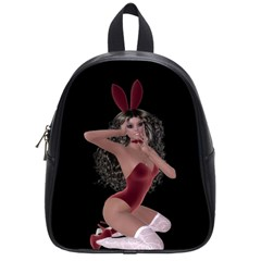 Miss Bunny In Red Lingerie School Bag (small)