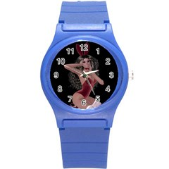 Miss Bunny In Red Lingerie Plastic Sport Watch (Small)