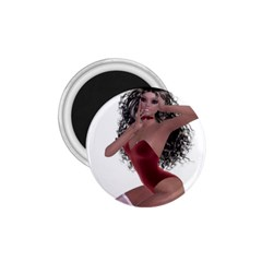 Miss Bunny in red lingerie 1.75  Button Magnet