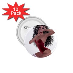 Miss Bunny in red lingerie 1.75  Button (10 pack)