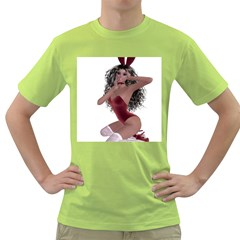 Miss Bunny In Red Lingerie Men s T Shirt (green)