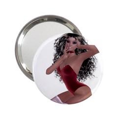 Miss Bunny in red lingerie Handbag Mirror (2.25 )