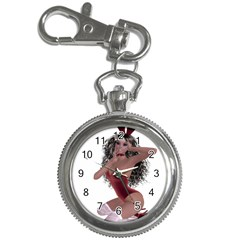 Miss Bunny in red lingerie Key Chain & Watch