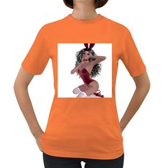Miss Bunny in red lingerie Women s T-shirt (Colored)
