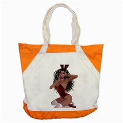 Miss Bunny In Red Lingerie Accent Tote Bag