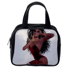 Miss Bunny in red lingerie Classic Handbag (One Side)