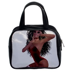 Miss Bunny In Red Lingerie Classic Handbag (two Sides)