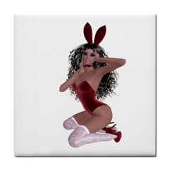 Miss Bunny In Red Lingerie Face Towel