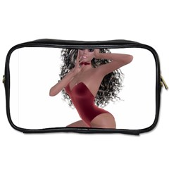 Miss Bunny in red lingerie Travel Toiletry Bag (One Side)