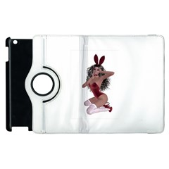 Miss Bunny in red lingerie Apple iPad 3/4 Flip 360 Case