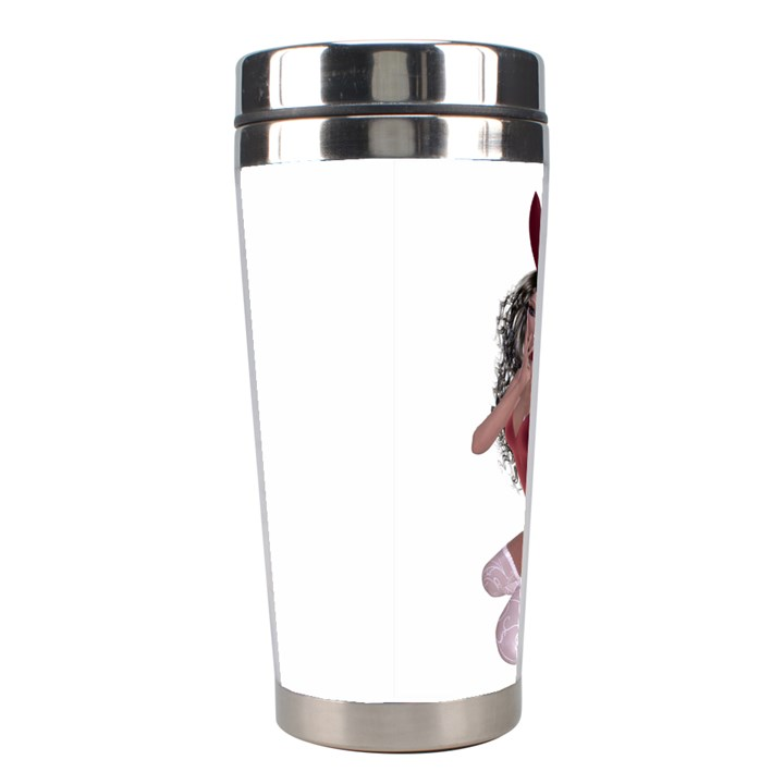 Miss Bunny in red lingerie Stainless Steel Travel Tumbler