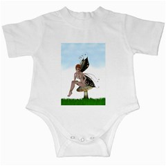 Fairy Sitting On A Mushroom Infant Bodysuit