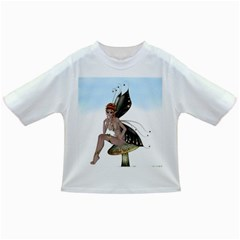 Fairy Sitting On A Mushroom Baby T Shirt