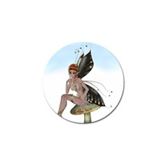 Fairy Sitting On A Mushroom Golf Ball Marker 10 Pack