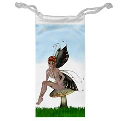 Fairy Sitting On A Mushroom Jewelry Bag