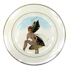 Fairy Sitting On A Mushroom Porcelain Display Plate