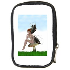 Fairy Sitting On A Mushroom Compact Camera Leather Case