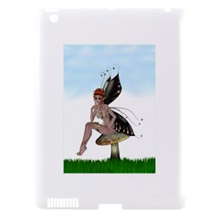 Fairy Sitting On A Mushroom Apple iPad 3/4 Hardshell Case (Compatible with Smart Cover)