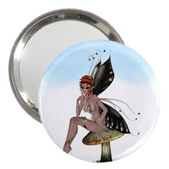 Fairy Sitting On A Mushroom 3  Handbag Mirror