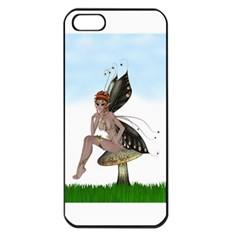 Fairy Sitting On A Mushroom Apple Iphone 5 Seamless Case (black)