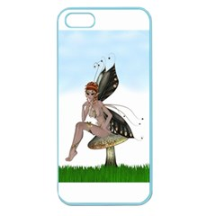 Fairy Sitting On A Mushroom Apple Seamless Iphone 5 Case (color)