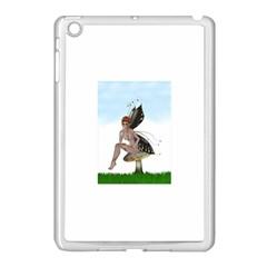 Fairy Sitting On A Mushroom Apple iPad Mini Case (White)