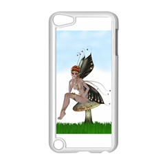 Fairy Sitting On A Mushroom Apple iPod Touch 5 Case (White)