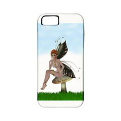 Fairy Sitting On A Mushroom Apple iPhone 5 Classic Hardshell Case (PC+Silicone)