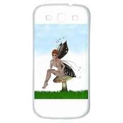 Fairy Sitting On A Mushroom Samsung Galaxy S3 S III Classic Hardshell Back Case