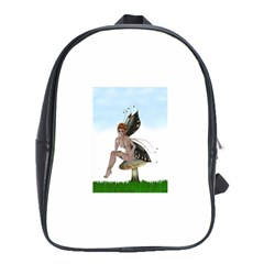 Fairy Sitting On A Mushroom School Bag (xl)