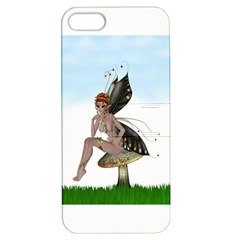 Fairy Sitting On A Mushroom Apple iPhone 5 Hardshell Case with Stand
