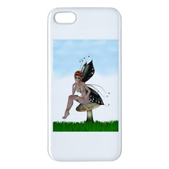 Fairy Sitting On A Mushroom iPhone 5 Premium Hardshell Case