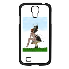 Fairy Sitting On A Mushroom Samsung Galaxy S4 I9500/ I9505 Case (Black)